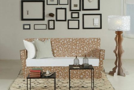 Cardboard furniture – 60 examples that you can make yourself
