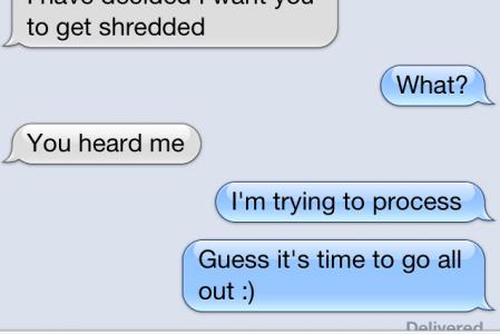 Getting Shredded