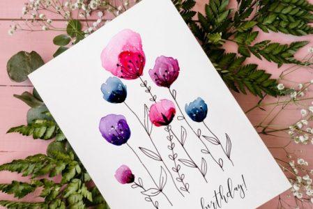 DIY birthday cards: instructions, ideas, inspirations