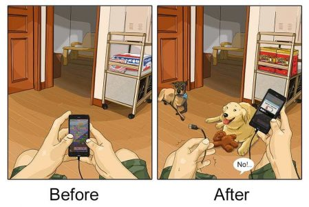 These Illustrations Reveal What It's Like Before And After Having A Dog