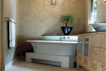 Bathrooms Without Tiles – 50 Alternative Design Ideas