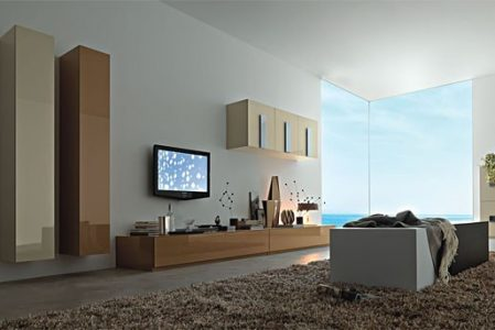 Wall units inspiration for your living room from Momentoitalia