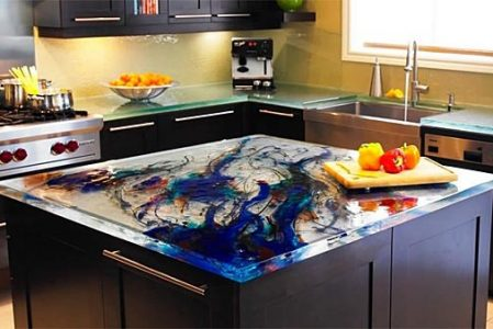 Kitchen glass countertops from ThinkGlass