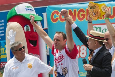 Hot Dog eating contest Stream Live Nathans Hot-dog Contest Time