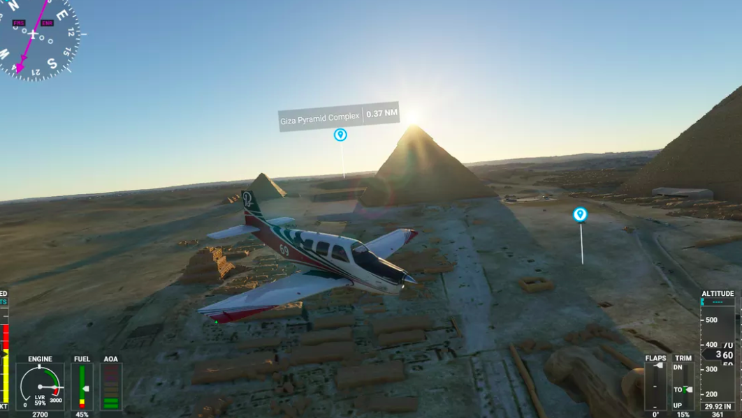 How Active Pause Button in Microsoft Flight Simulator 2020