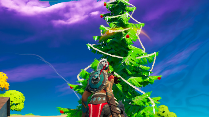 christmas trees fortnite